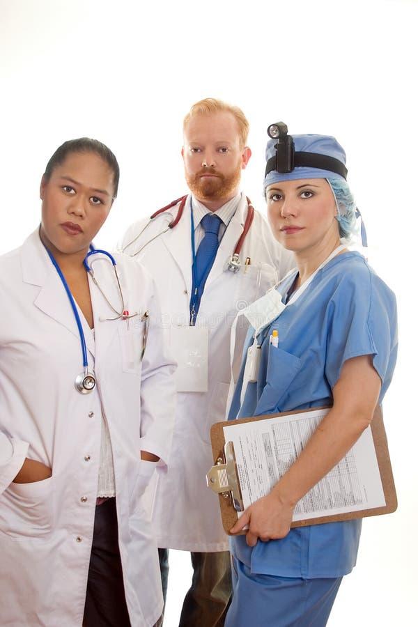 Trois professionnels médicaux photo libre de droits