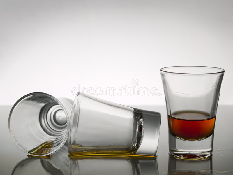Trois projectiles de whiskey photos libres de droits