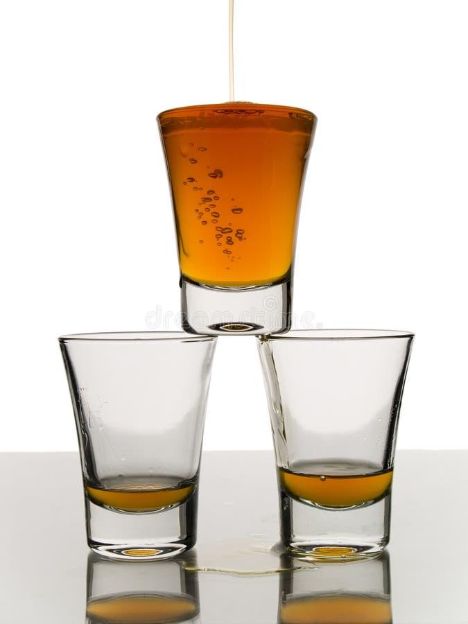 Trois projectiles de whiskey image stock
