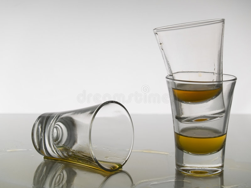 Trois projectiles de whiskey photos stock