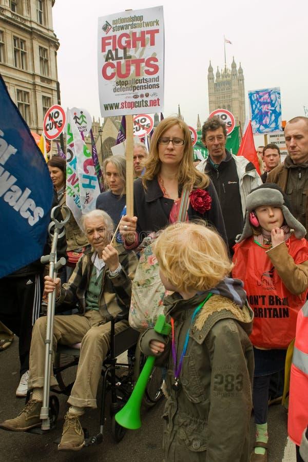 Trois rétablissements des protestataires photographie stock libre de droits
