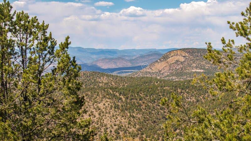 Trois rivières Lincoln National Forest Campground images libres de droits