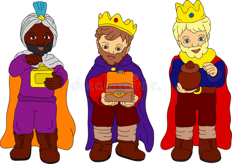Trois rois illustration stock