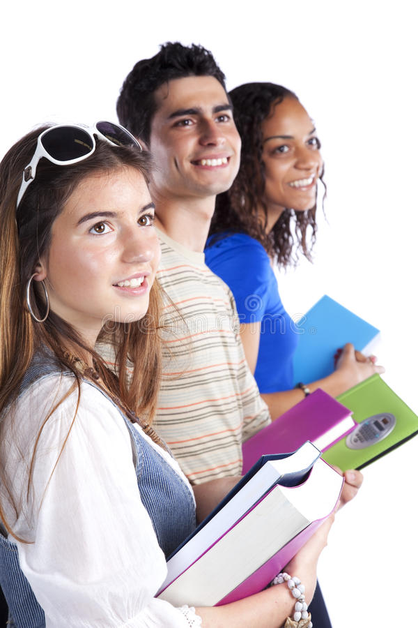 Trois studens d'adolescent photographie stock libre de droits
