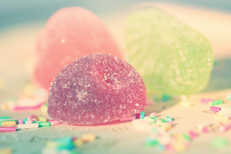 Trois sucreries délicieuses de confiture d'oranges photo libre de droits