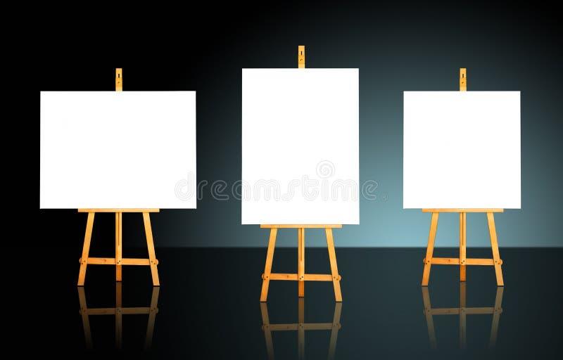 Trois supports images libres de droits