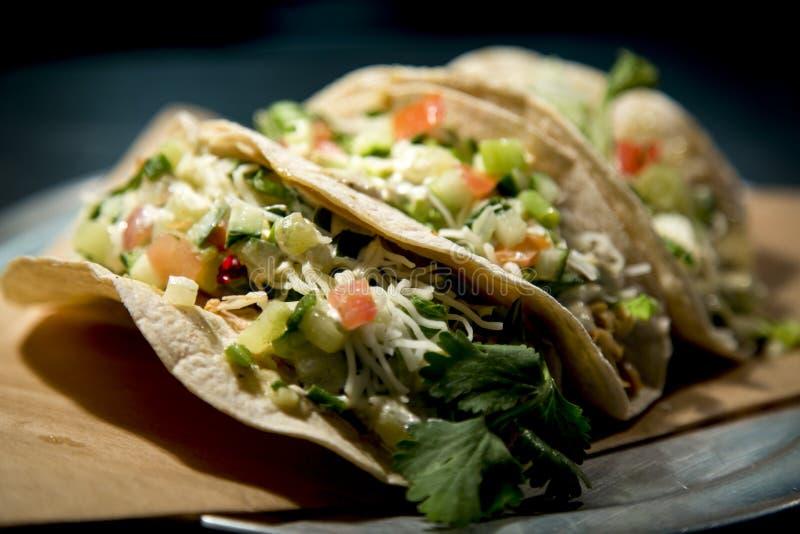 Trois tacos photo stock