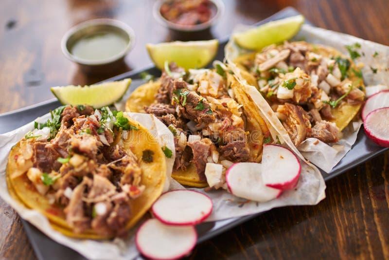 trois tacos de rue photo libre de droits