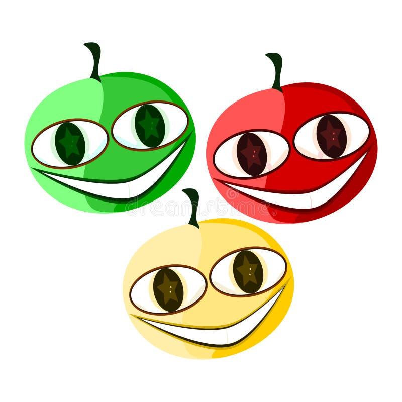 Trois tomates illustration de vecteur