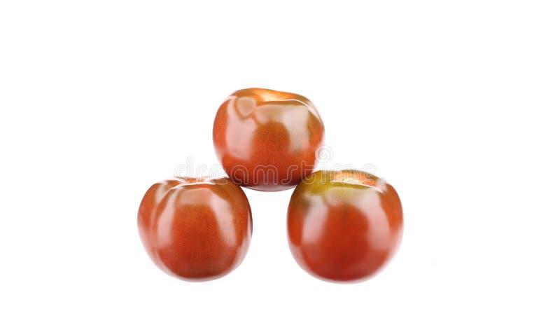 Trois tomates mûres image libre de droits