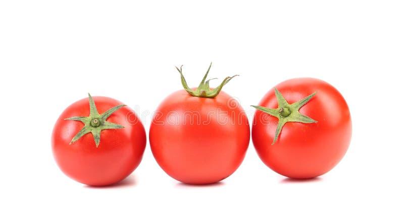 Trois tomates mûres rouges photo libre de droits