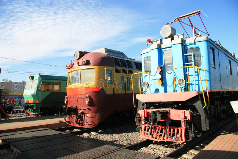 Trois trains image stock