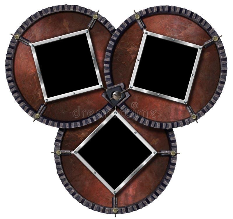 Trois trames en métal illustration de vecteur