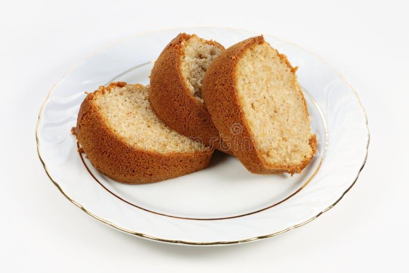 Trois tranches de gâteau images libres de droits