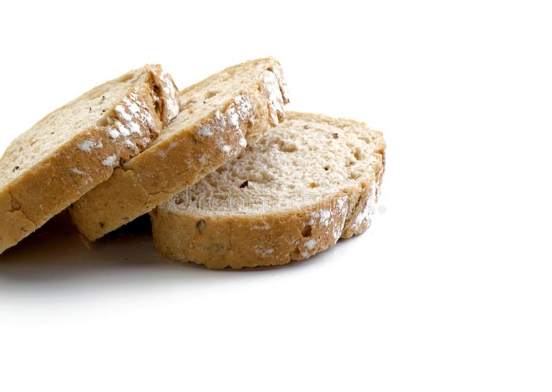 Trois tranches de pain empilé par intégrale 2 photo stock