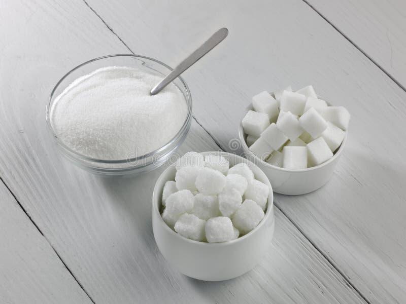 Trois types de sucre photo stock