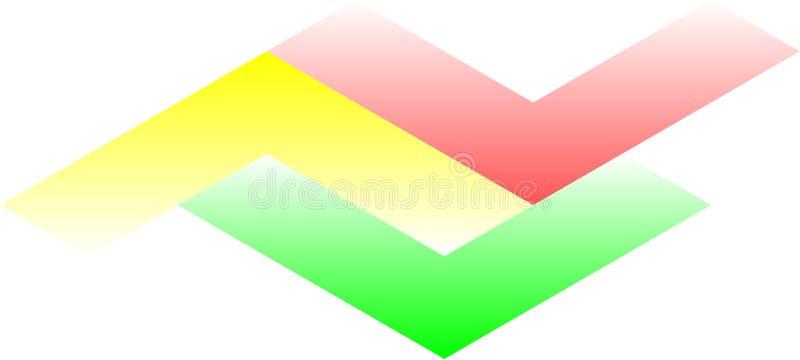 Trois uniques colorés rayés images libres de droits