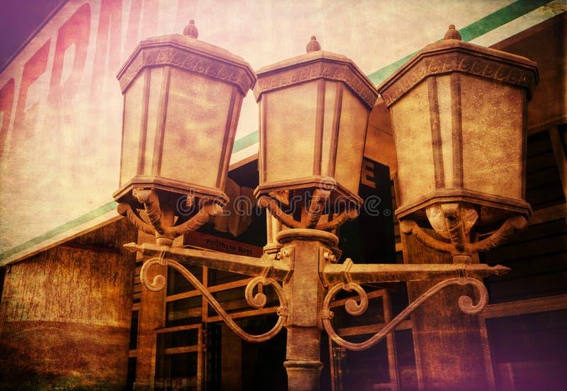 Trois vieilles lanternes image libre de droits