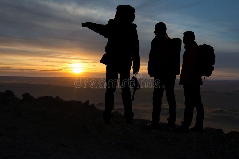 Trois voyageurs image libre de droits