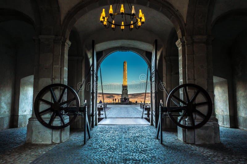Troisième porte de la fortification d'Alba Carolina images libres de droits