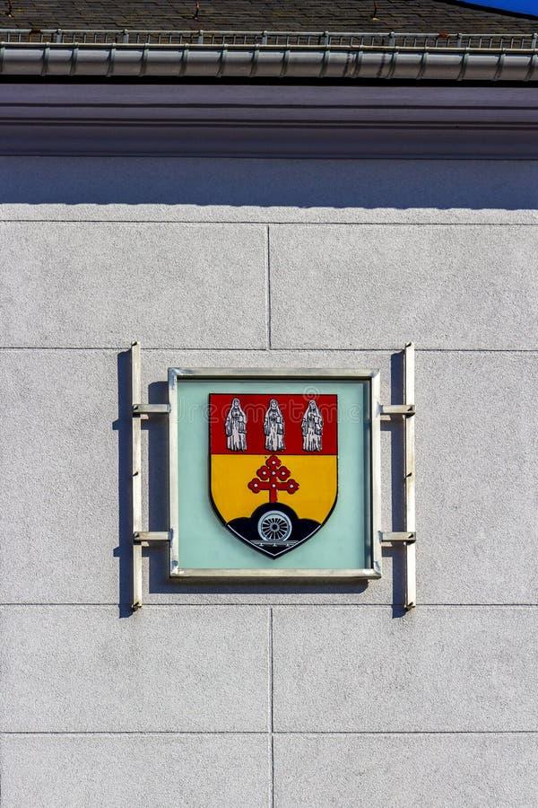 Troisvierges, escudo de armas de Luxemburgo fotos de archivo