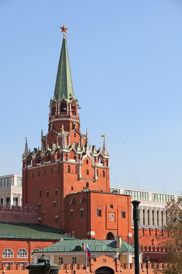 Troitskaya Kontrollturm. Russland, Moskau, Kremlin. lizenzfreies stockbild