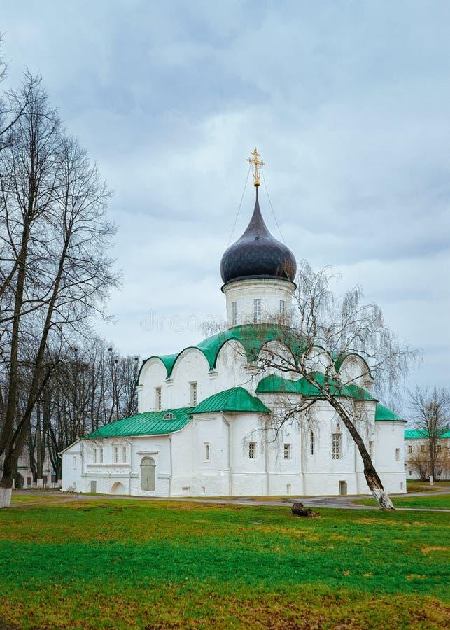 Troitskykathedraal in de stad van Alexandrov Vladimir bij de Gouden Ring van Rusland royalty-vrije stock afbeelding