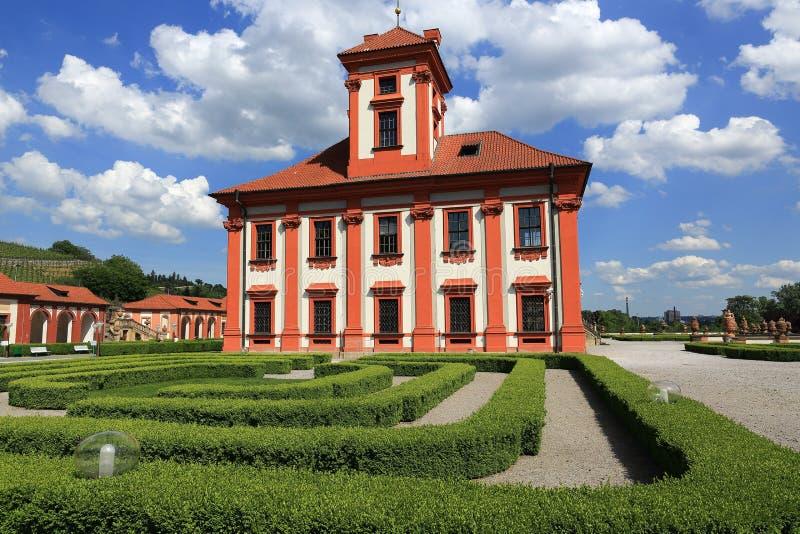 Troja宫殿是位于Troja的一个巴洛克式的宫殿,布拉格的西北自治市镇(捷克) 免版税图库摄影