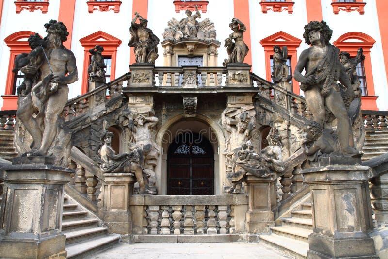 Troja castle in the Prague stock image