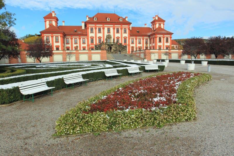 Troja chateau - Prague arkivfoto