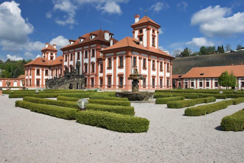 Troja Schloss stockfotos