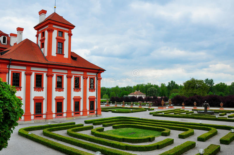 Troja slott, Troja, Prague, Tjeckien arkivfoton