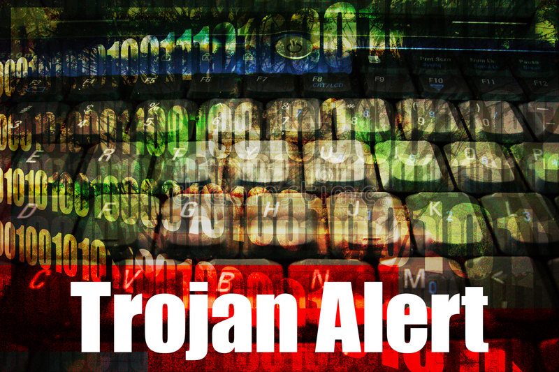 Trojan Alert on a Technology Background royalty free stock photo