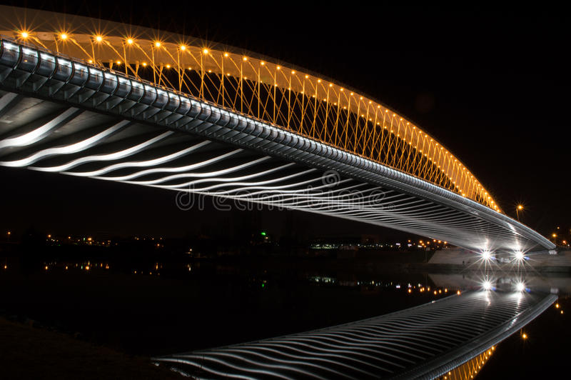 Trojan Brücke Prags nachts stockfoto