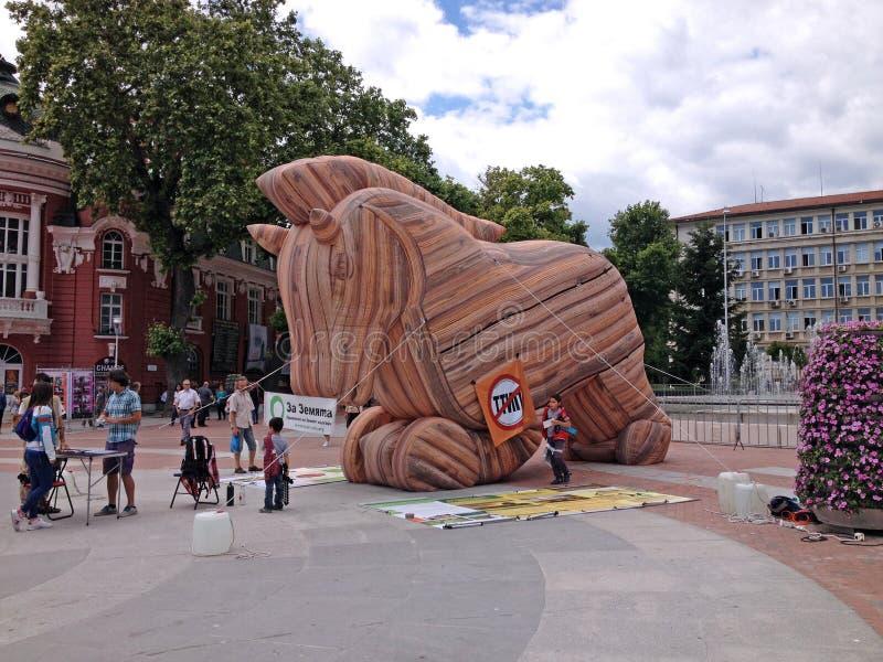 Trojan häst royaltyfria bilder
