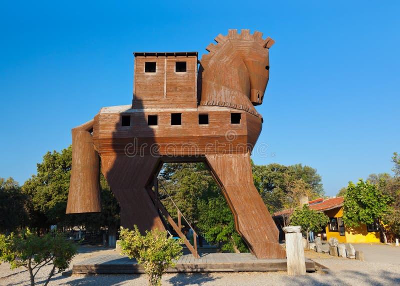 Trojan häst - Troy Turkiet royaltyfri fotografi