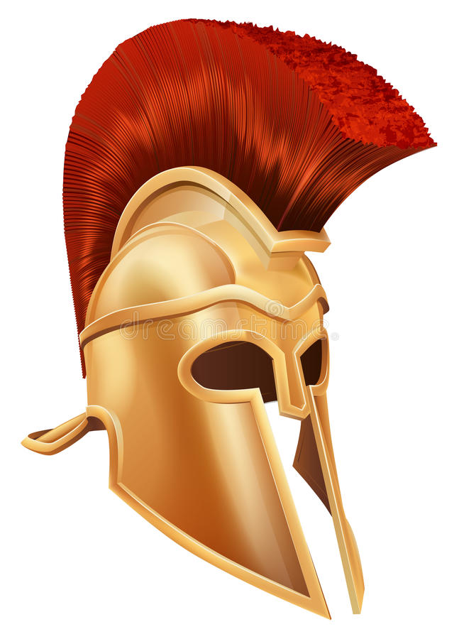 Trojan Helm royalty-vrije illustratie