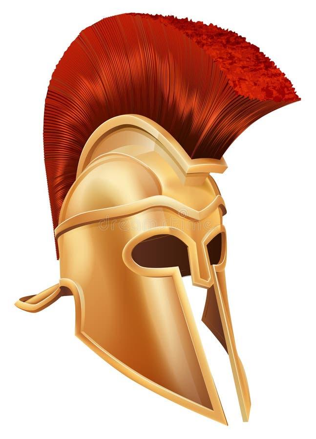 Trojan Helmet royalty free illustration