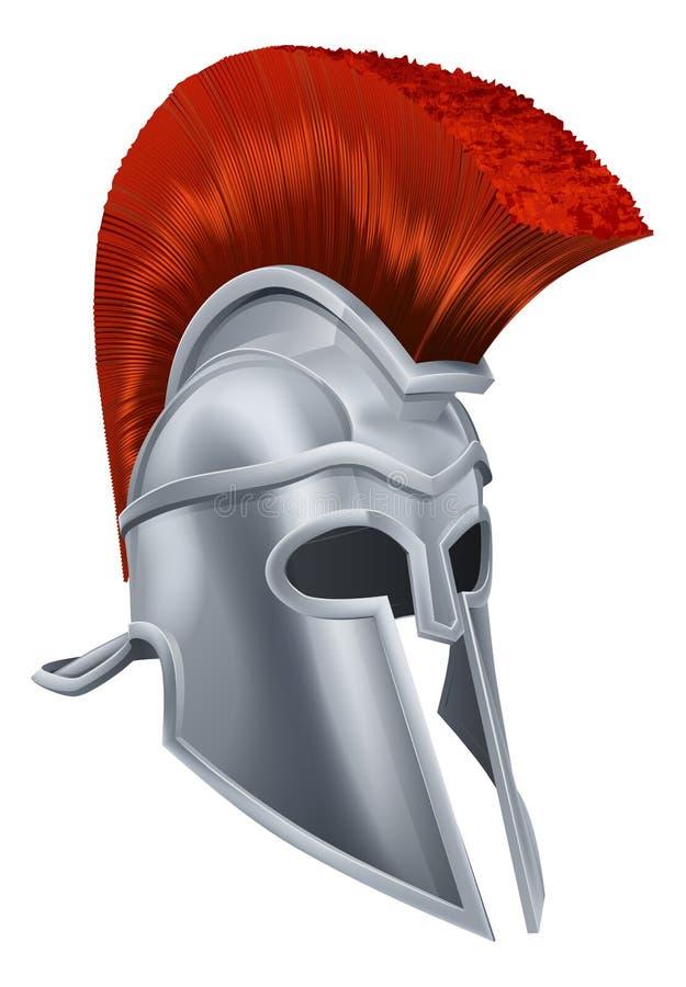 Trojan Helmet stock illustration