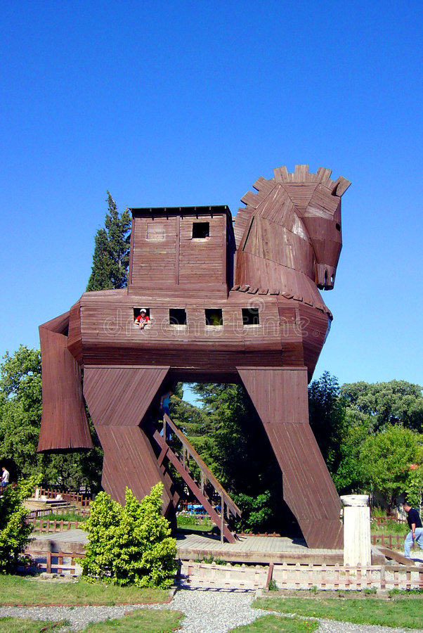 Trojan Horse. Model of the Trojan Horse located in Troy, Turkey