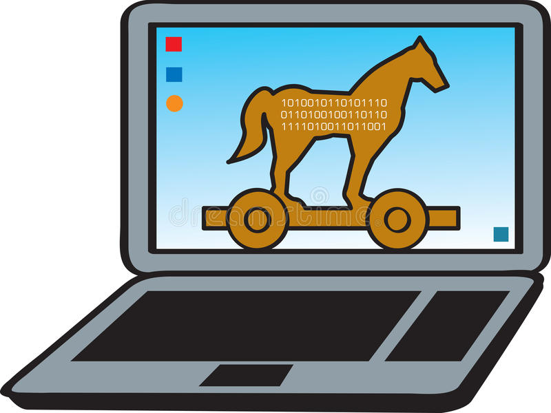 Download Trojan Horse stock vector. Illustration of malicious - 16881889
