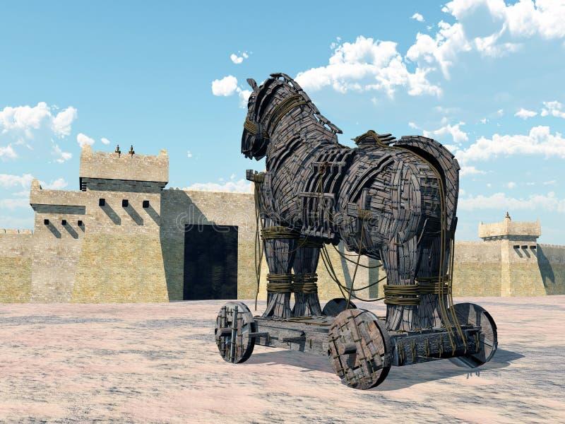 Trojan Horse illustration stock