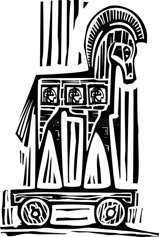 Trojan Horse vektor abbildung