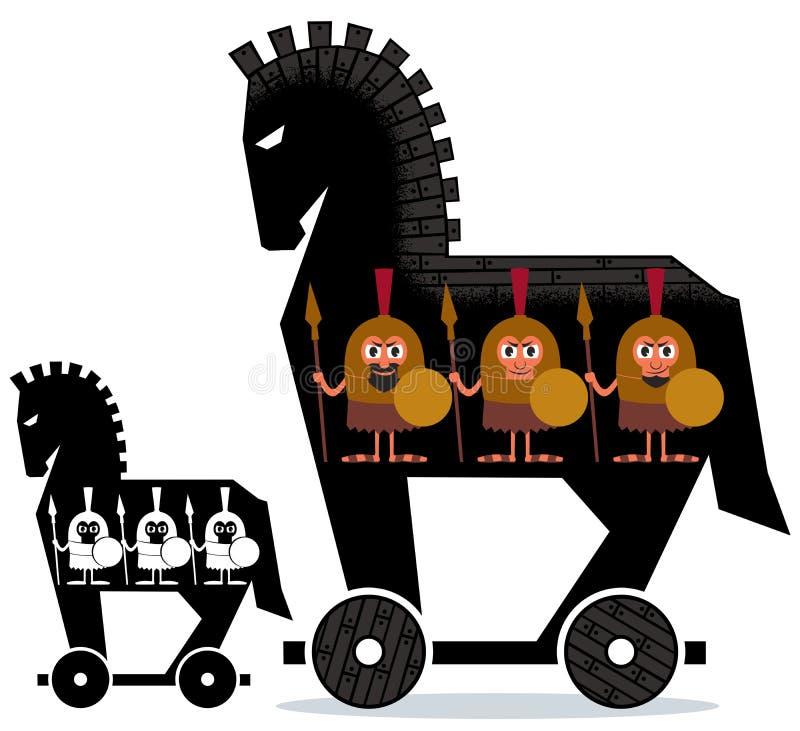 Trojan Horse stock illustration