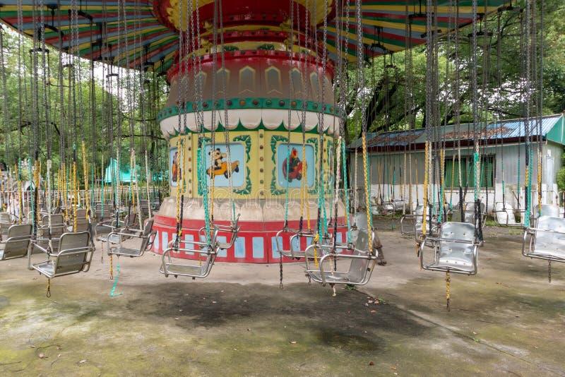 Trojan Horse de rotation en parc photo stock