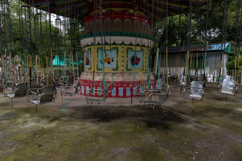 Trojan Horse de rotation en parc photos libres de droits