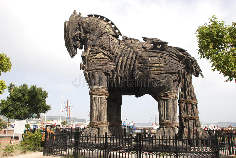 Trojan Horse Stock Photo