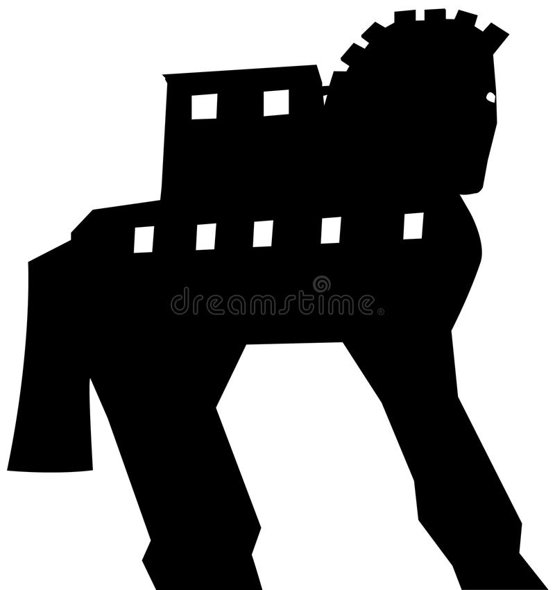 Trojan- Horseschattenbildvektor vektor abbildung