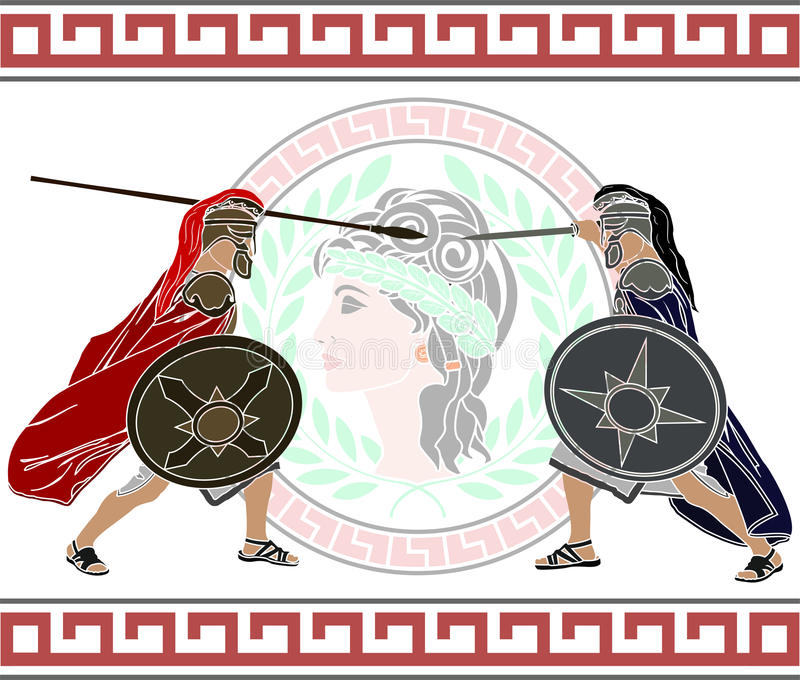 Trojan Krieg stock abbildung