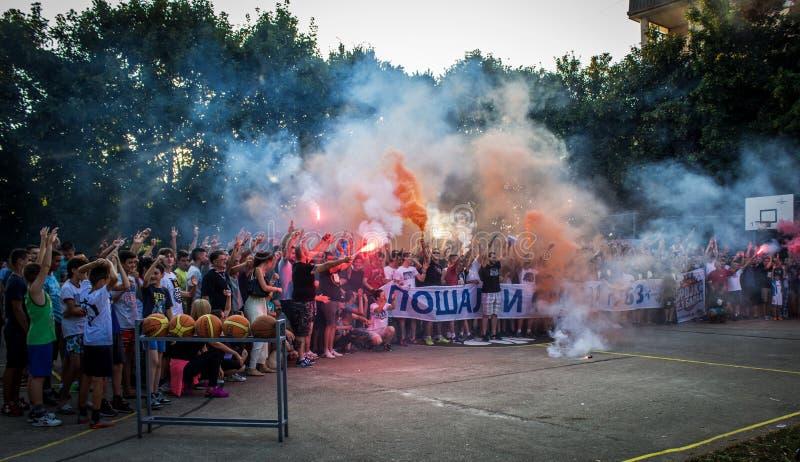 Download Trojka Iz Bloka, Charity Organisation Editorial Stock Photo - Image of torch, july: 73812813